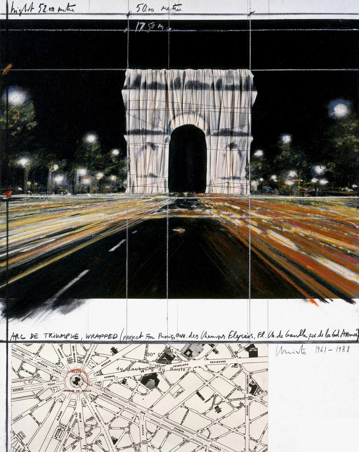 Arc de Triumphe, Wrapped (Project for Paris)